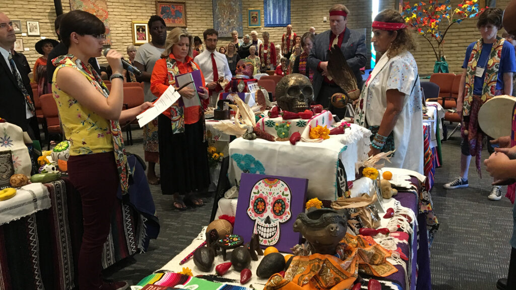 Day of the Dead service in the sanctuary