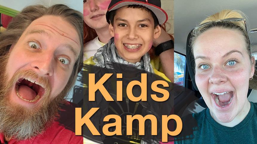 Two teachers and 2 kids from Kids Kamp