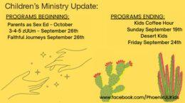 Children's Ministry Updates